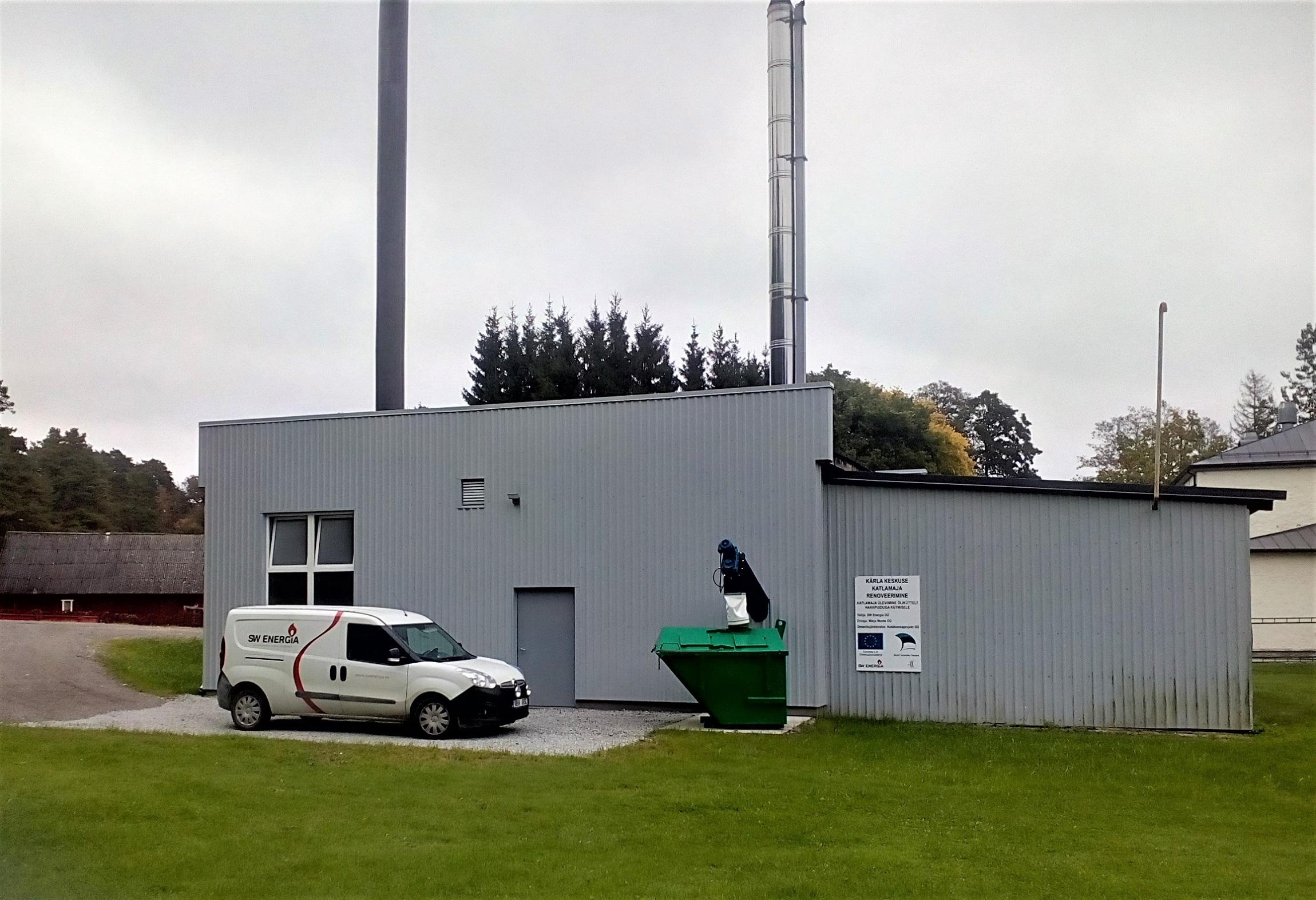 Kärla kaugküttevõrk sai uue katlamaja